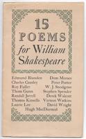 15 Poems for William Shakespeare