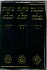 The Concise Dictionary of National Biography. [3 Volumes]