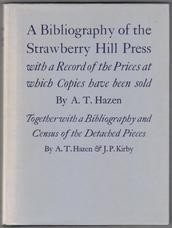 A Bibliography of the Strawberry Hill Press