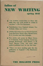 Folios of New Writing. Spring 1941