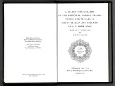 A Select Bibliography of the Principal Modern Presses, Public and Private, in Great Britain.